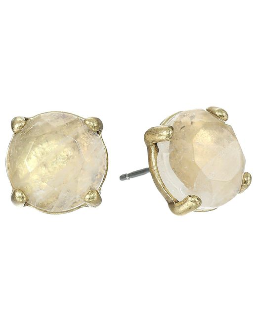 Lucky Brand | Metallic Rock Crystal Stud Earring | Lyst