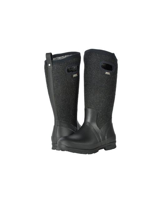 Bogs - Black Crandall Tall Wool (dark Gray) Women's Boots - Lyst