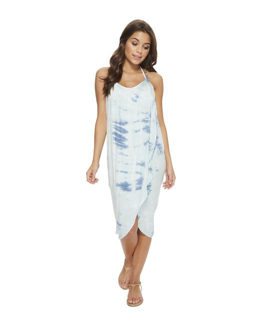 Green Dragon - Blue Heaven Genevieve Wrap Dress - Lyst