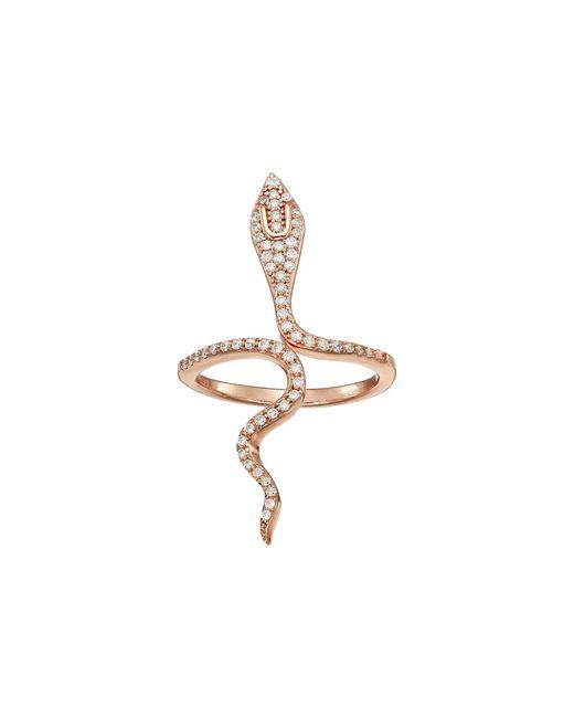 Shashi - Multicolor Snake Wrap Ring (rose Gold) Ring - Lyst