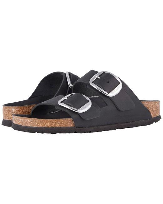 Birkenstock - Black Women's Arizona Big Buckle Slide Sandals - Lyst