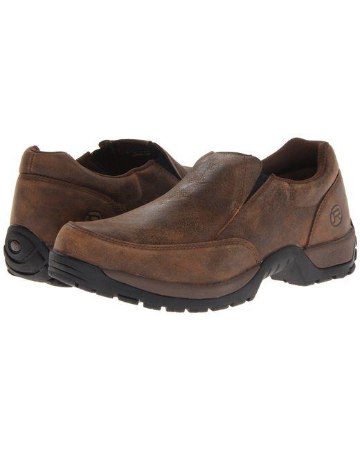Roper - Blue Performance Slip On W/ Rider Button (brown) Men's Slip On Shoes for Men - Lyst
