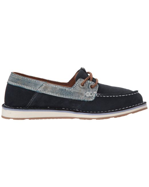 b44d30f792f Lyst - Ariat Cruiser Castaway (honeycomb) Women s Slip On Shoes in Blue