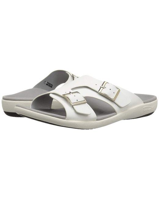 Spenco - Brighton Slide Sandal (white Mist) Women's Shoes - Lyst