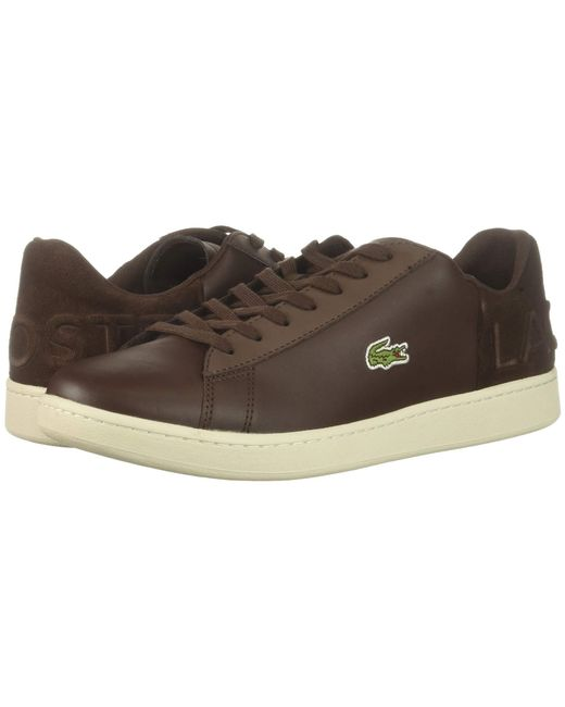 a691e1bd71fb37 Lyst - Lacoste Carnaby Evo 418 1 (brown off-white) Men s Shoes in ...