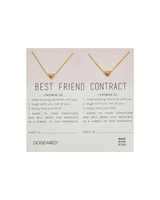 Lyst dogeared best friend contract set of 2 heart bead necklaces dogeared metallic best friend contract set of 2 heart bead necklaces lyst altavistaventures Images
