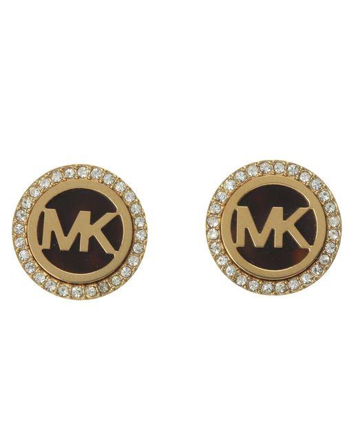 Michael Kors - Metallic Mk Logo Stud Earrings - Lyst