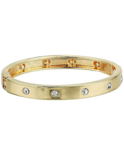 Guess - Metallic Hingle Bangle W/ Crystal Accents - Lyst