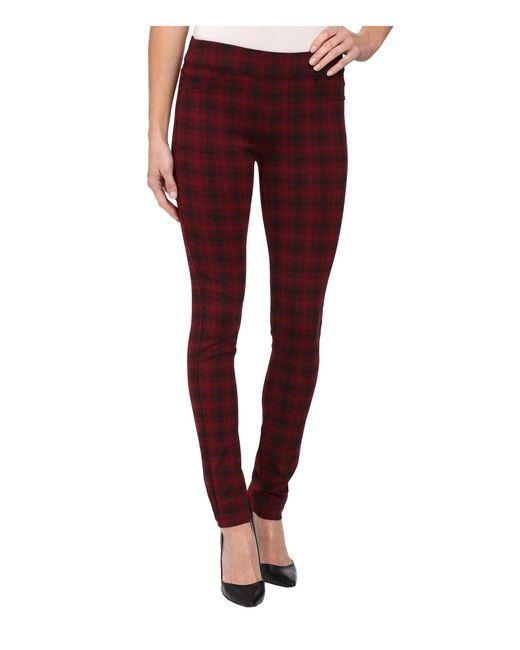 Liverpool Jeans Company - Red Sienna Pull-on Glen Plaid Leggings (wine/black) Women's Jeans - Lyst