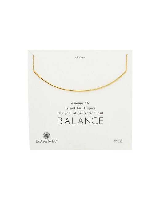Dogeared - Metallic Balance Delicate Bar Choker Necklace (gold Dipped) Necklace - Lyst