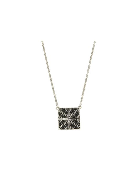John Hardy - Metallic Modern Chain Necklace With Black Sapphire (silver) Necklace for Men - Lyst