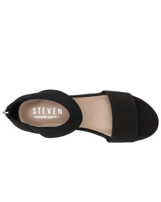 57628c1dd17 ... Steven by Steve Madden - Black Nc-evie Wedge Sandal (blush Multi)  Women s ...
