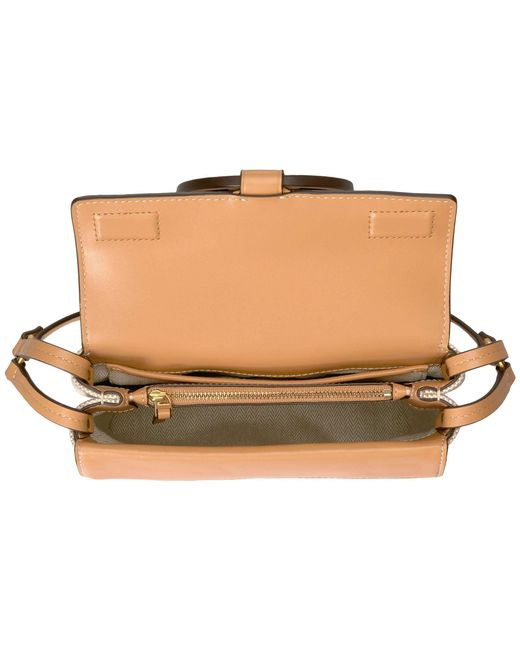 7d438e6b49a ... Tory Burch - Miller Canvas Crossbody (natural) Cross Body Handbags -  Lyst ...
