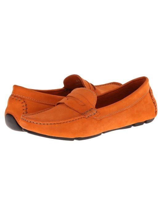 Massimo Matteo - Orange Penny Keeper (black Bison) Women's Moccasin Shoes - Lyst