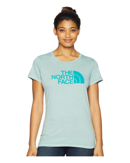 The North Face - Blue Short Sleeve 1/2 Dome Pigment Crew Tee (faded Rose/tnf White) Women's T Shirt - Lyst