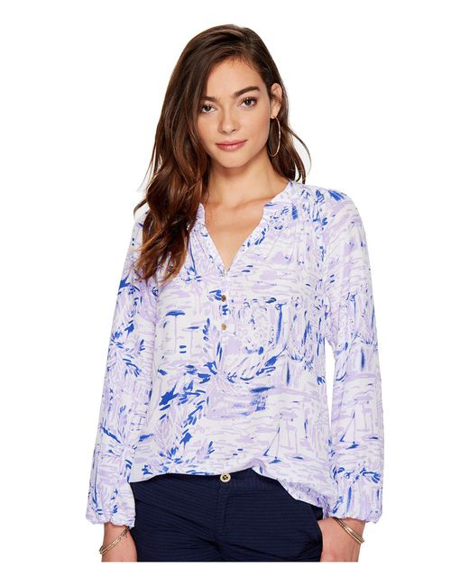 Lilly Pulitzer - Purple Elsa Top - Lyst