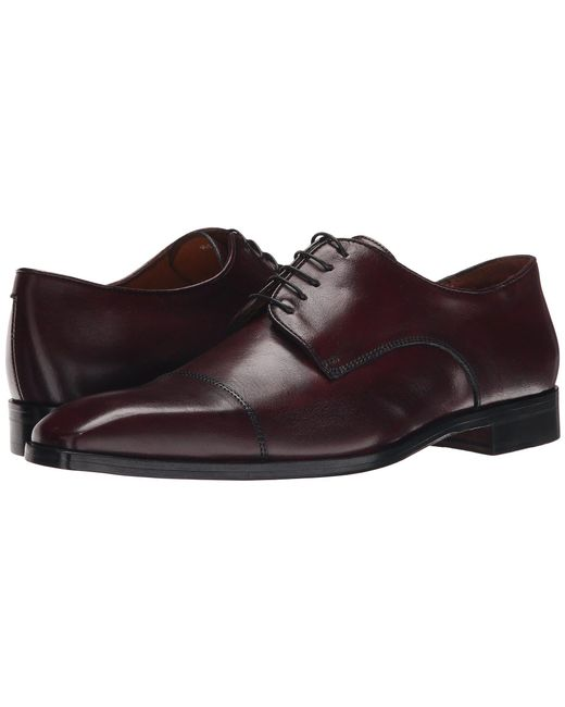 Massimo Matteo - Brown 5-eye Cap Toe (bordo) Men's Lace Up Wing Tip Shoes for Men - Lyst