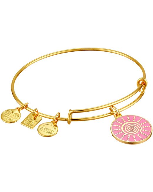 ALEX AND ANI | Metallic Charity By Design - Spiral Sun Expandable Charm Bangle Bracelet | Lyst