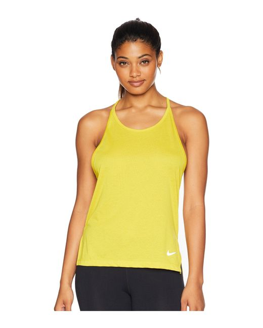 Nike - Yellow Tailwind Cool Lx Tank Top (bright Citron) Women's Sleeveless - Lyst