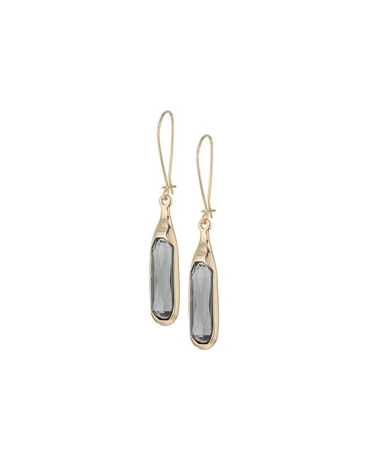 Robert Lee Morris - Multicolor Faceted Stone Long Drop Earrings (black Diamond) Earring - Lyst