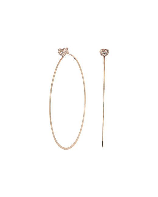 Michael Kors - Metallic Love Is In The Air Pave Heart Stud Hoop Earrings (gold) Earring - Lyst