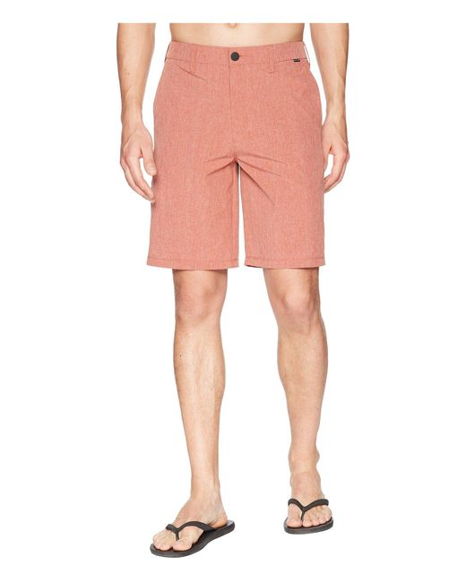 Hurley - Pink Phantom Hybrid Walkshorts (black Heather) Men's Shorts for Men - Lyst