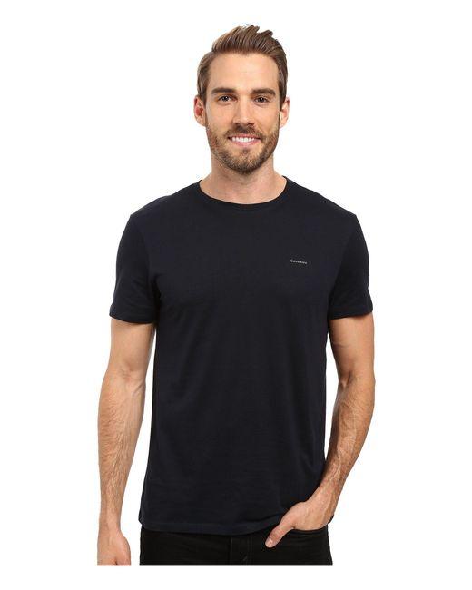 Calvin Klein   Metallic Short Sleeve Pima Cotton Crew T-shirt for Men   Lyst