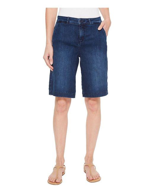NYDJ - Blue Bermuda Shorts In Cooper (cooper) Women's Shorts - Lyst