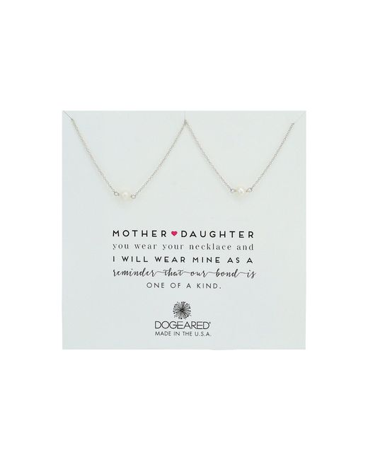 Dogeared - Metallic Mother Daughter, 2 Small Pearl Necklace (gold Dipped) Necklace - Lyst