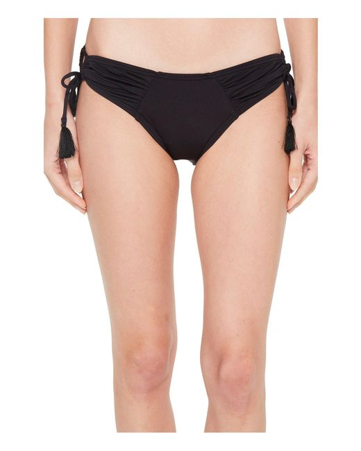 Vince Camuto - Black Riviera Solids Side Tie Cheeky Bikini Bottom - Lyst