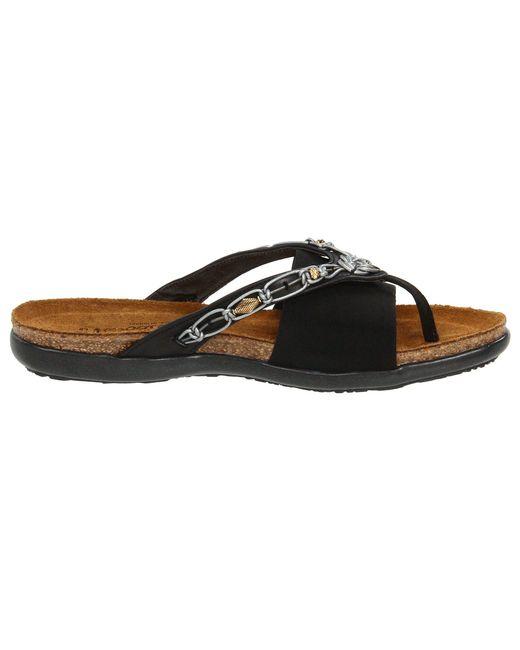 c6fc891b25e7 ... Naot - Black Jennifer (polar Sea Leather navy Stretch) Women s Sandals  ...