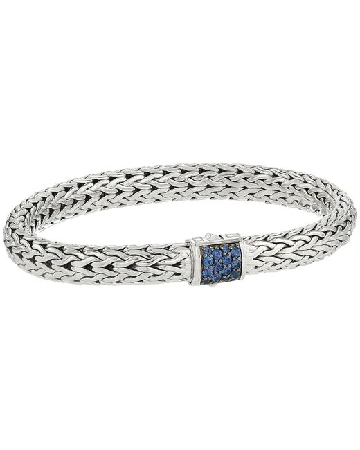 John Hardy - Metallic Classic Chain 7.5mm Bracelet With Blue Sapphire (silver) Bracelet - Lyst