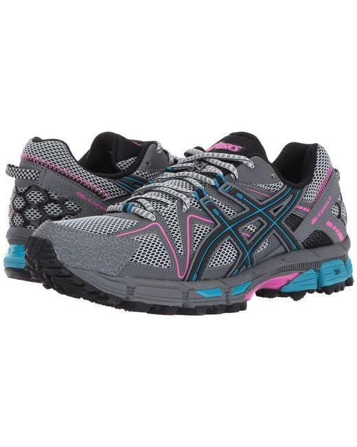 Asics - Blue Gel-kahana(r) 8 (black/ice Green/hot Orange) Women's Running Shoes - Lyst