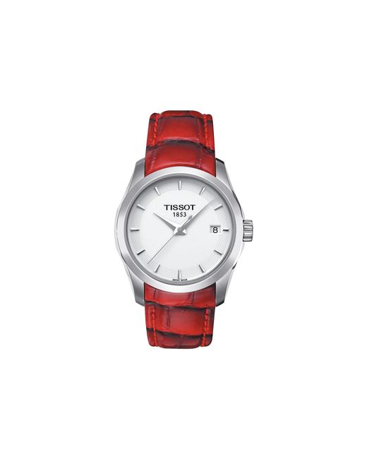 Tissot - Couturier Lady - T0352101601101 (mother-of-pearl/red) Watches - Lyst