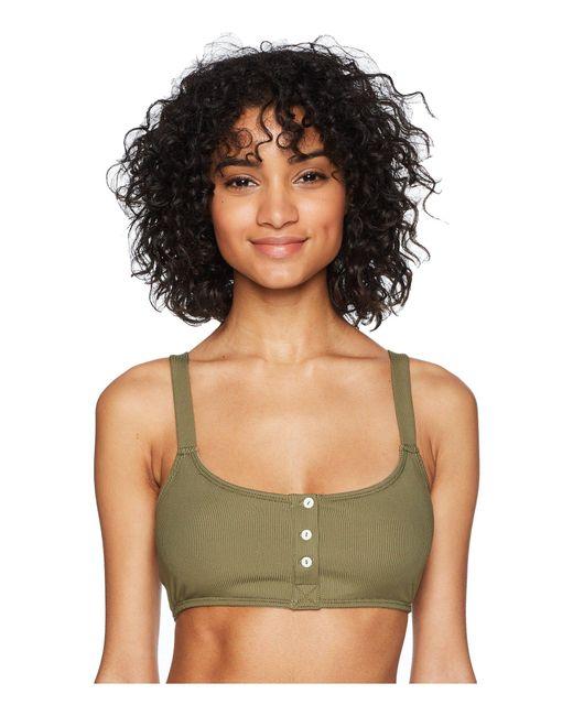 Free People - Green Remi Soft Bra (black) Women's Bra - Lyst