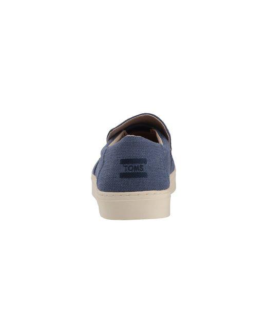 a9db67d93f8 ... TOMS - Lomas Slip-on (cadet Blue Heritage Canvas) Men s Slip On Shoes  ...