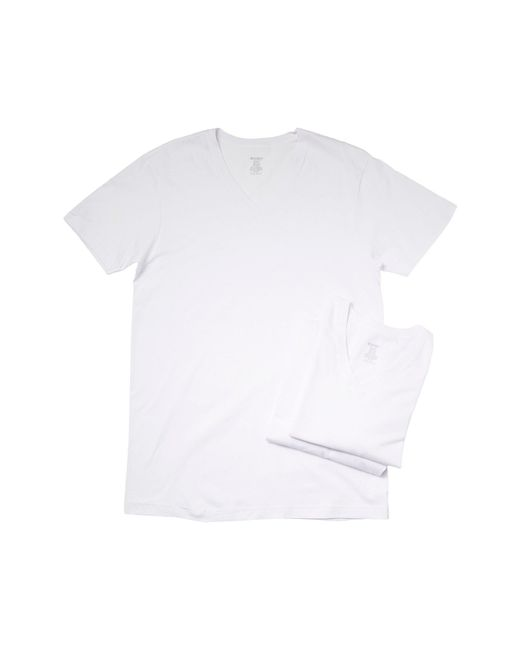 2xist - White 3-pack Essential Jersey V-neck T-shirt for Men - Lyst