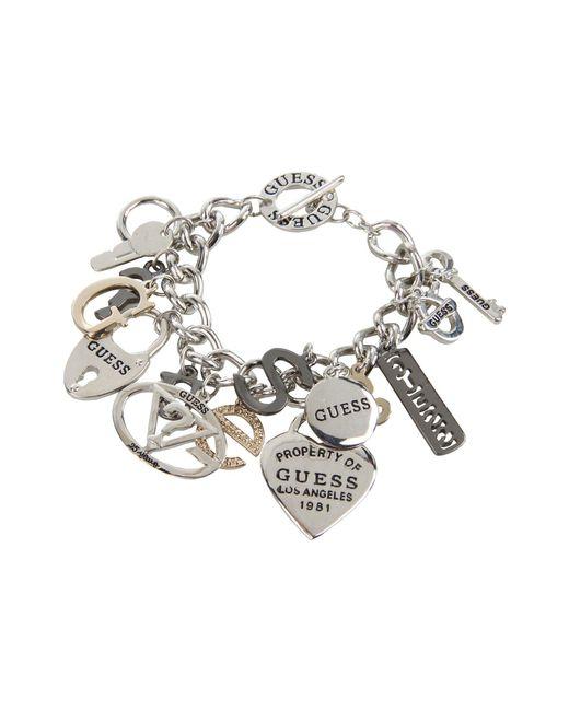 Guess - Pink 179167-21 (ir/hematite/gold) Charms Bracelet - Lyst