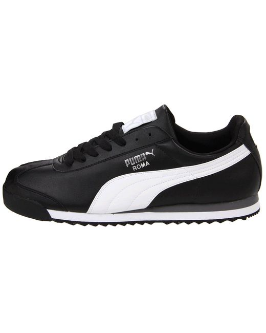 79aa67d1640a Lyst - PUMA Roma Basic (white light Grey) Men s Shoes in Black for Men
