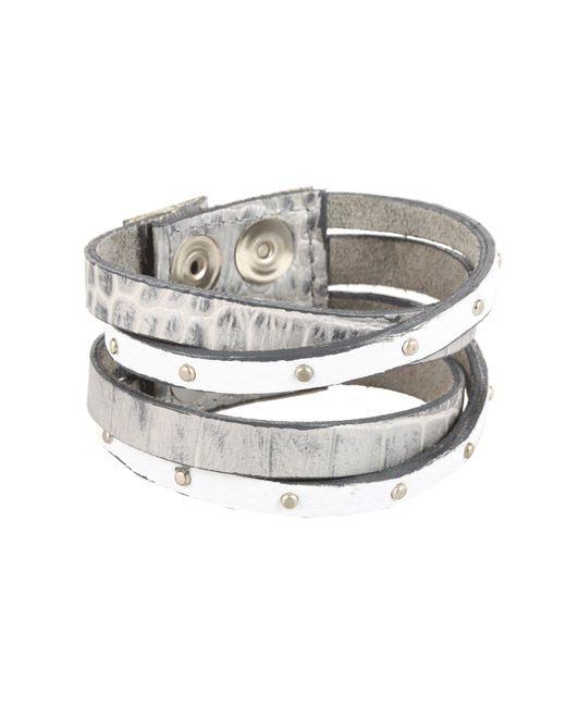 Leatherock - Metallic B453 (bronze) Bracelet - Lyst