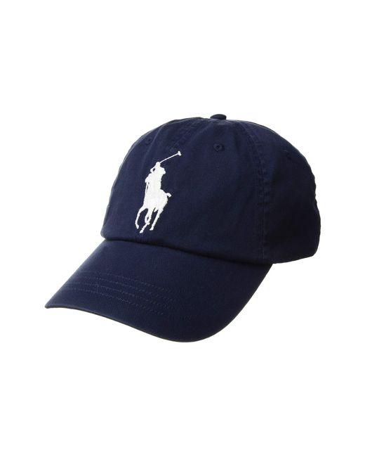 e28f2ae82bd Polo Ralph Lauren - Blue Big Pony Chino Cap (newport Navy) Caps for Men ...
