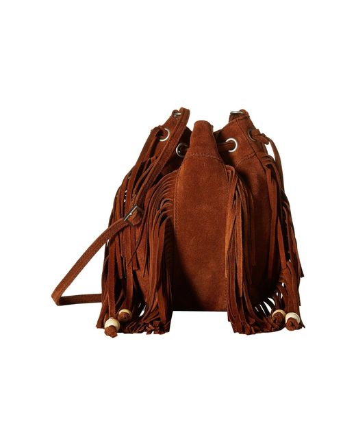 TOMS - Brown Celestial Soft Suede Mini Crossbody - Lyst
