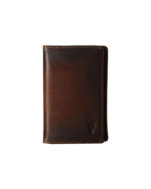 Frye - Brown Logan Small Wallet for Men - Lyst
