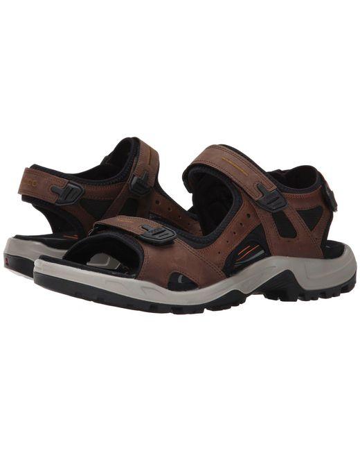 Ecco - Yucatan Sandal (espresso/cocoa Brown/black) Men's Toe Open Shoes for Men - Lyst