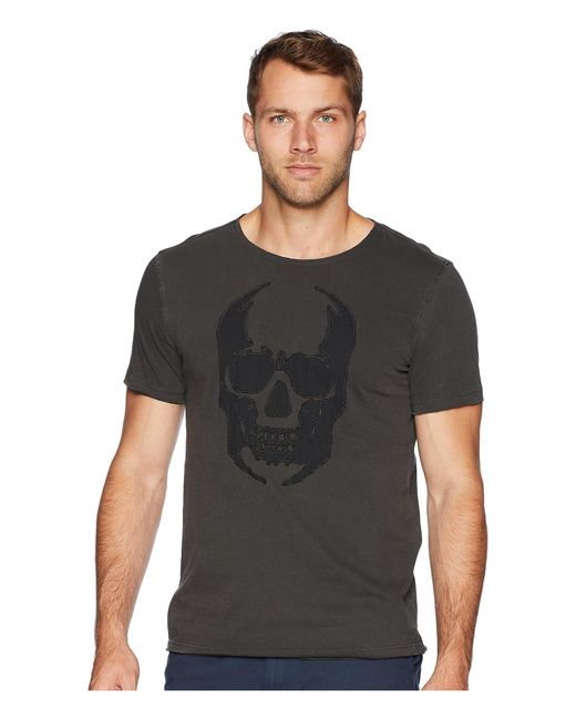 John Varvatos - Black Applique Skull Graphic Tee Kg3861u2b (coal) Men's T Shirt for Men - Lyst
