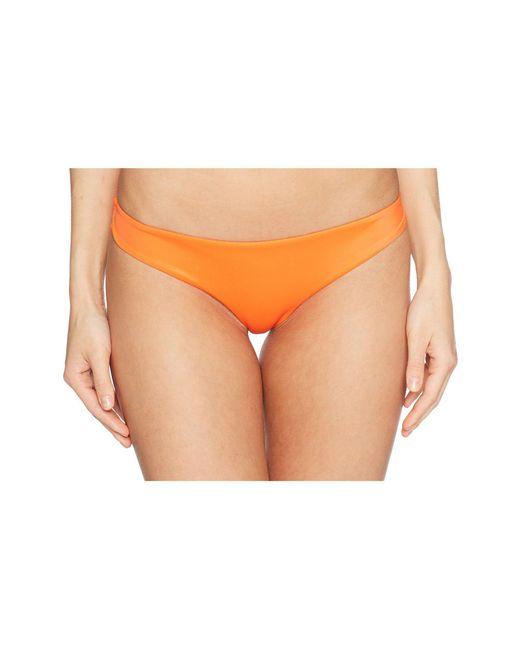 RVCA - Orange Solid Cheeky Bottom - Lyst
