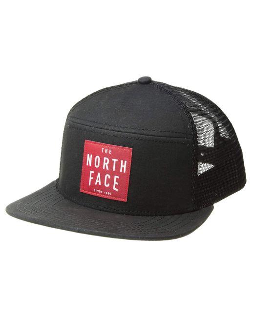 8097cd8778e Lyst - The North Face Dalles Trucker (tnf Black tnf Red) Caps in ...