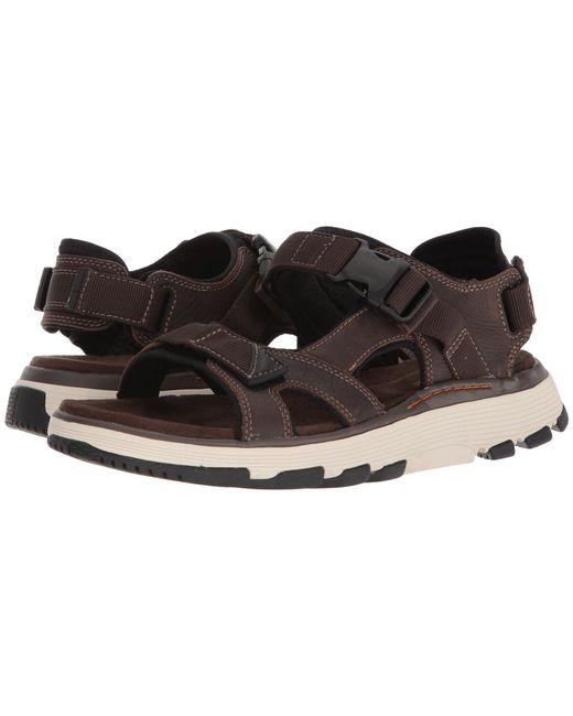 Clarks - Multicolor Untrek Bar (olive Nubuck) Men's Sandals for Men - Lyst