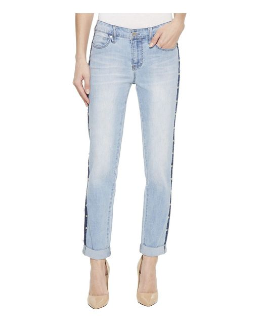 Liverpool Jeans Company - Blue Perry Slim Boyfriend With Side Studs In Vintage Super Comfort Stretch Denim In Pixley - Lyst
