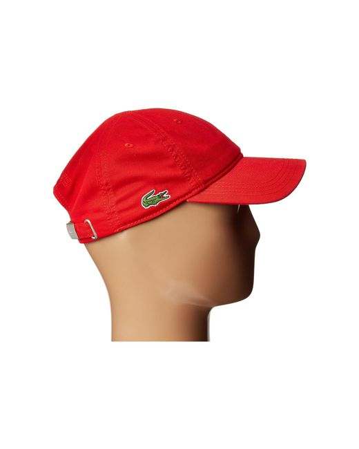 113a5dd8 ... Lacoste - Red Croc Gabardine Cotton Cap (navy Blue) Caps for Men - Lyst  ...